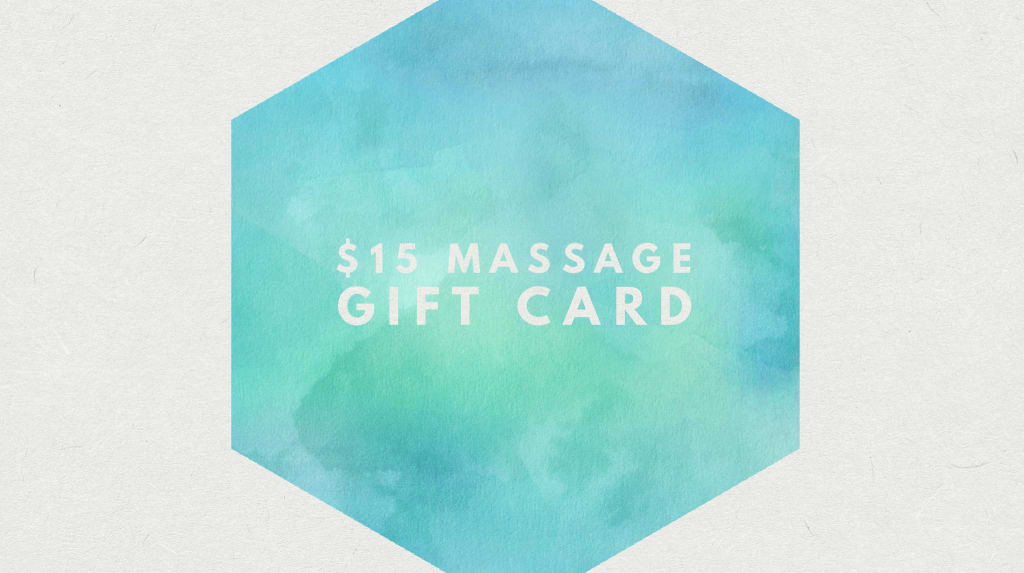 $15 Massage Therapy Gift Card