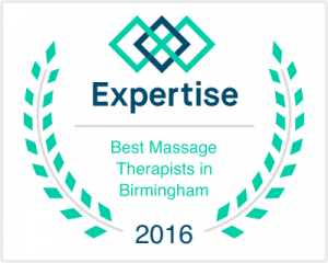 Best Massage Therapist in Birmingham Alabama award